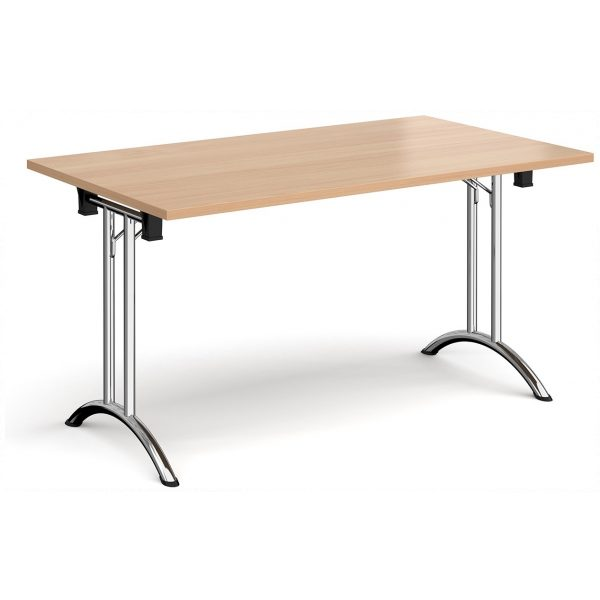 Curved Folding Leg Table