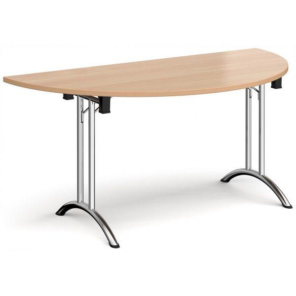 Semi-Circular Folding Curved Leg Table