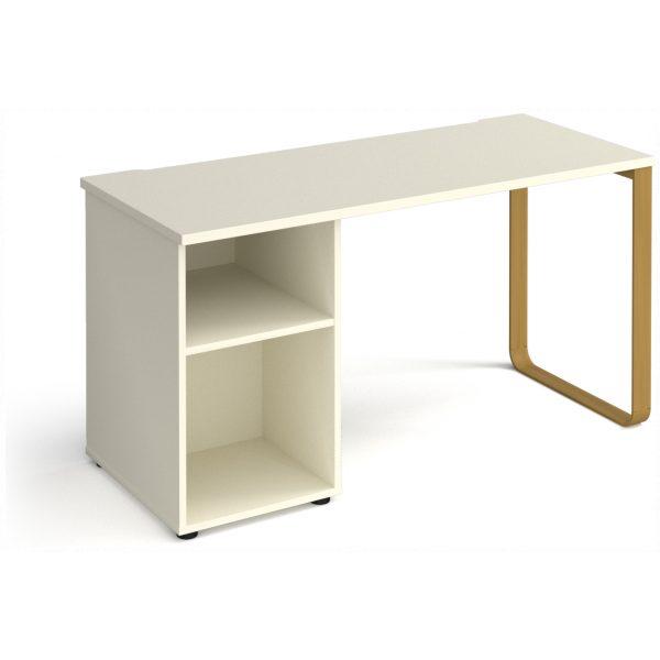 Sleigh Frame Desk with Pedestal – 600mm Deep