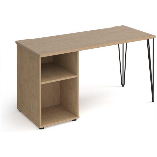 Hairpin Leg Desk with Pedestal – 600mm Deep