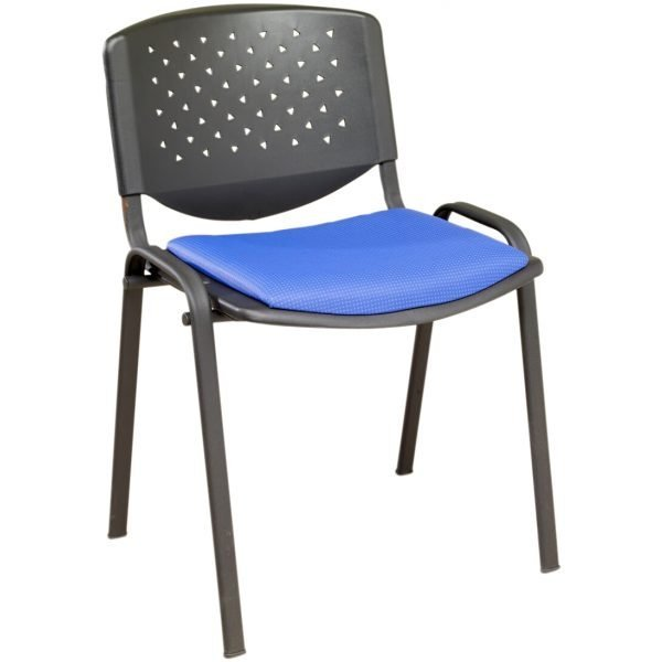 Flipper Perforated Back Chair With Black Frame